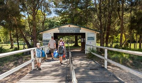 The Basin campground, Ku-ring-gai Chase National Park. Photo: David Finnegan/DPIE