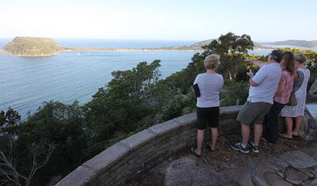 People enjoying the view from West Head lookout at Ku-ring-gai Chase National Park. Photo: Andy Richards
