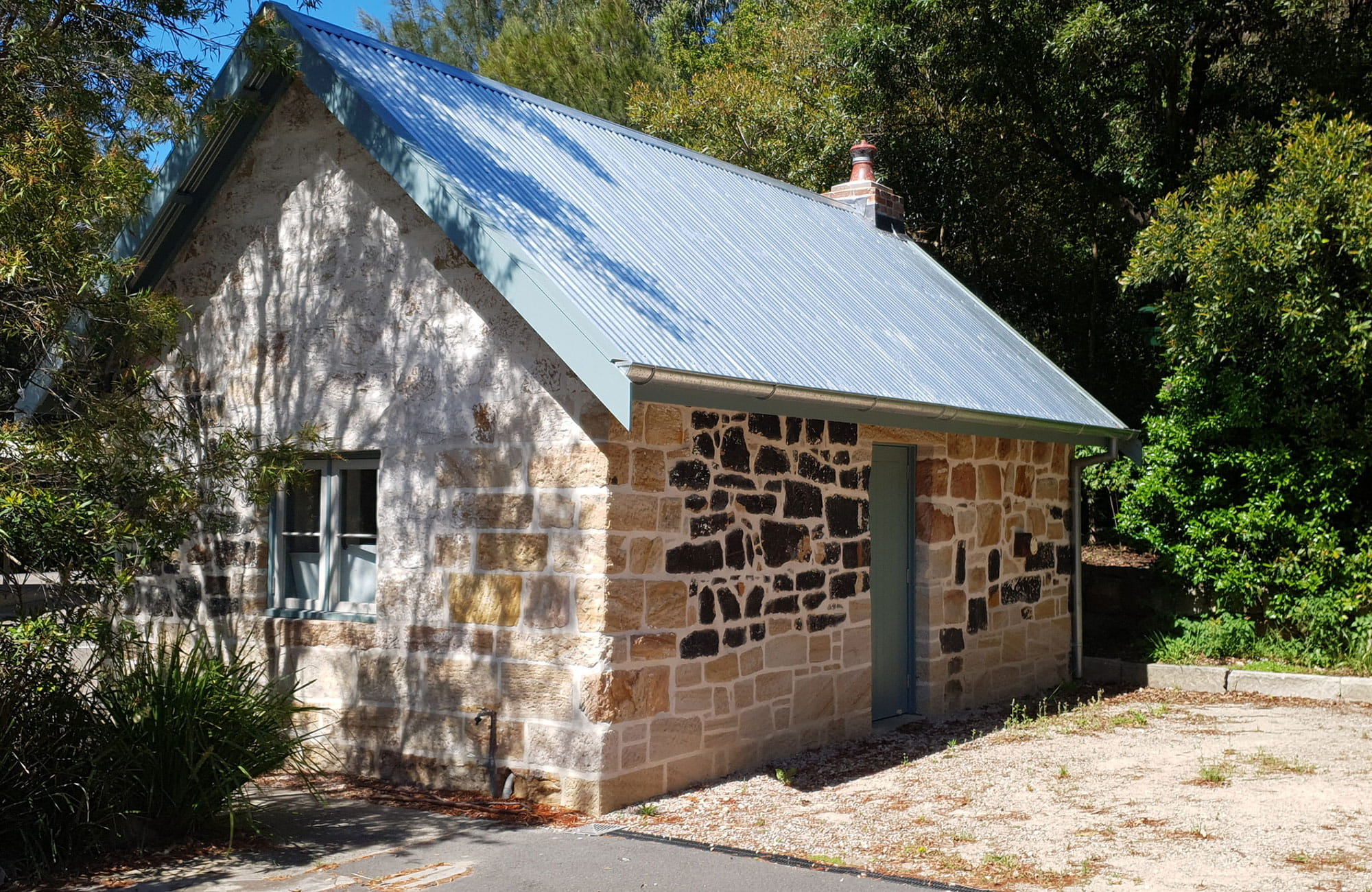 The northern exterior of Jenkins Kitchen, Lane Cove National Park. Photo: Ryan Siddons © DPIE