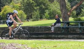Cycle from Pennant Hills park to West Pymble, Lane Cove National Park. Photo: Debby McGerty.