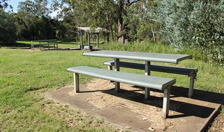 Picnic bench, Leacock Regional Park. Photo: John Yurasek