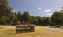 Limeburners Creek National Park sign. Photo: David Finnegan/DPIE