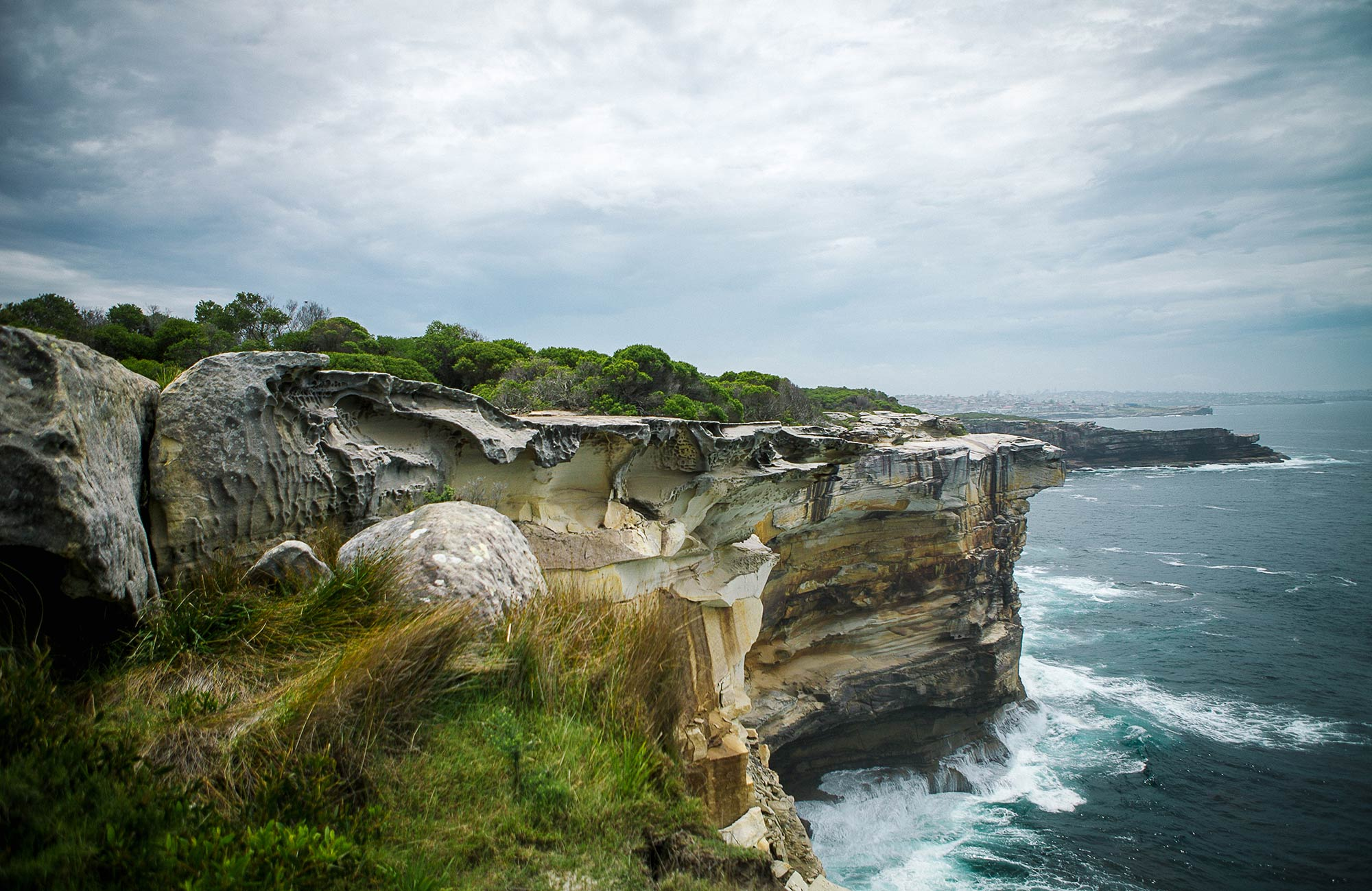 View to magic point from cliffs in Malabar Headland National Park. Photo: C Weston/OEH
