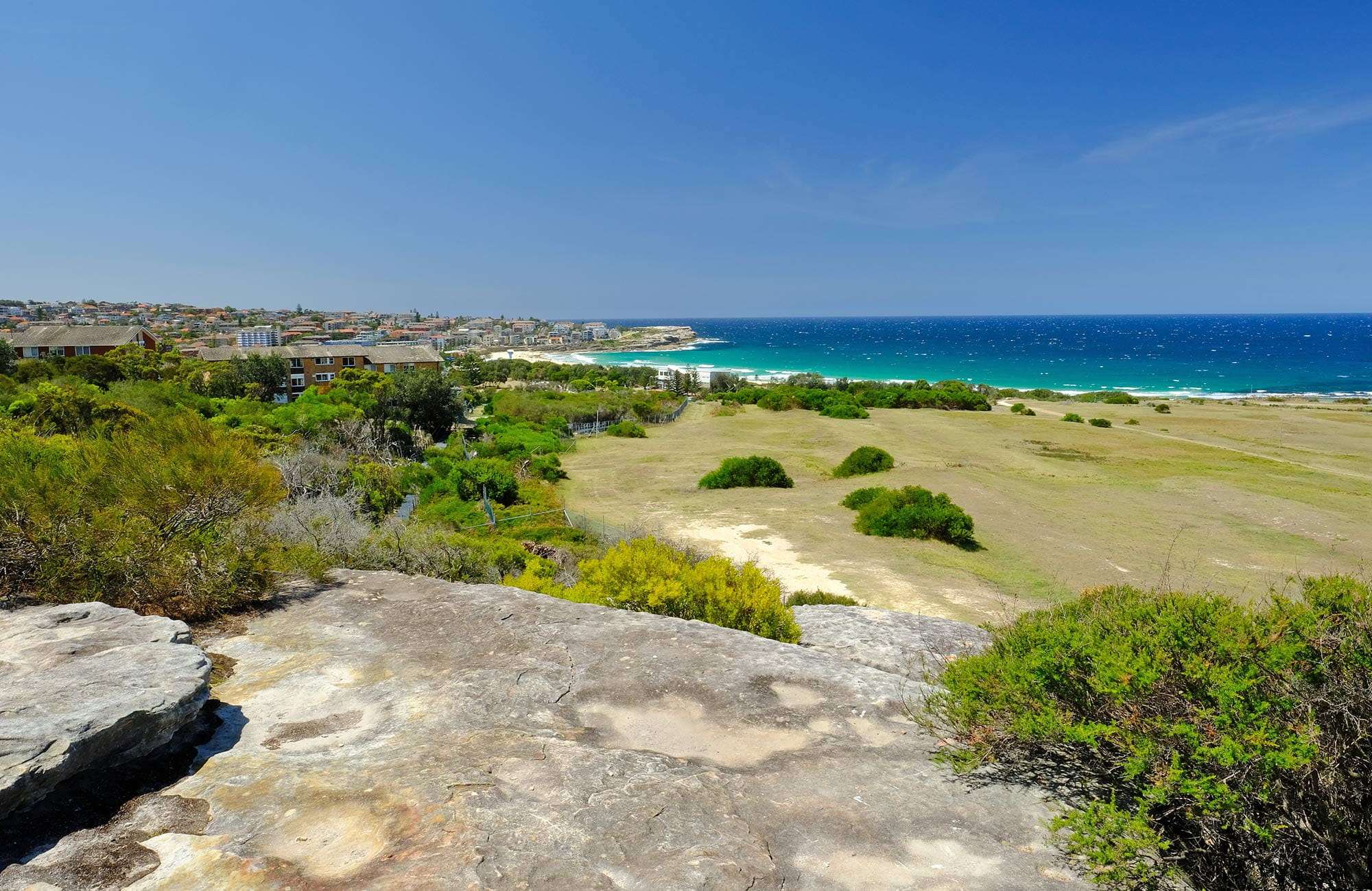 View to Maroubra Beach from Western Escarpment walking track. Photo: E Sheargold/OEH