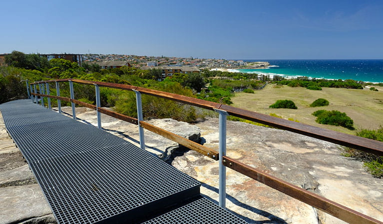 Stairs down to Maroubra Beach, from Western Escarpment walking track, Malabar Headland National Park. Photo: E Sheargold/OEH