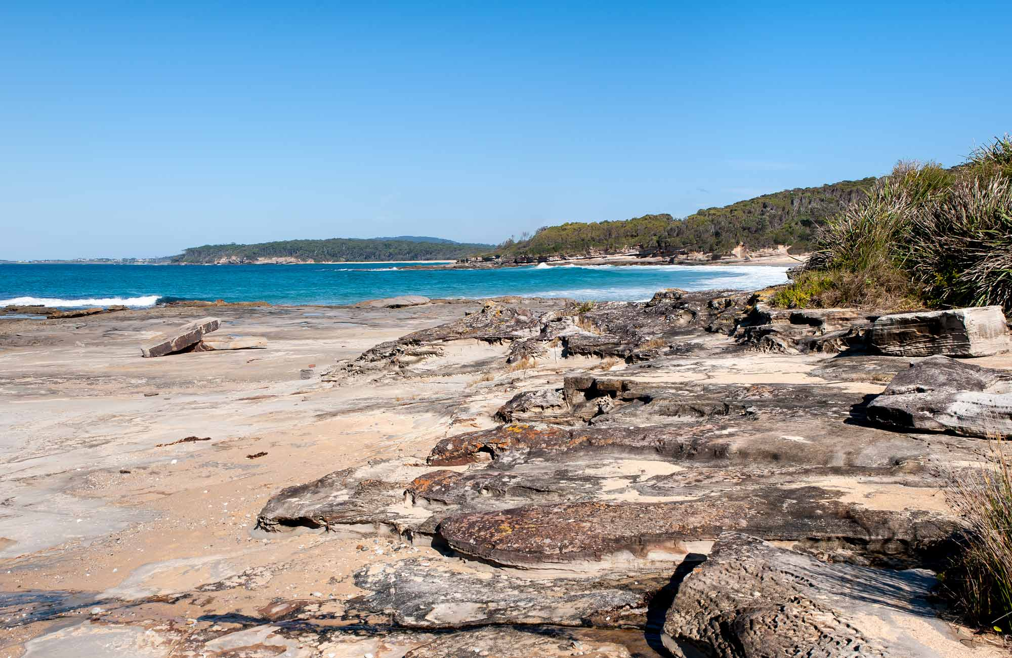 Sunburnt Beach campground, Meroo National Park. Photo: Michael van Ewijk