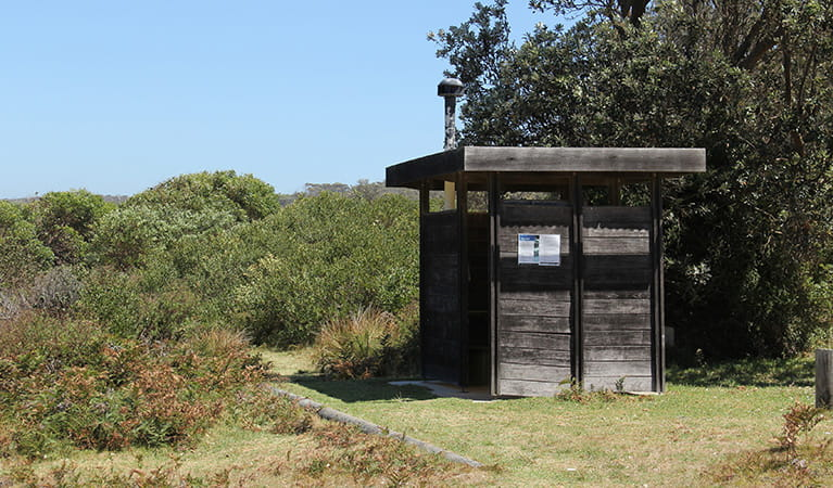 Toilet facilities at Gillards campground, Mimosa Rocks National Park. Photo: John Yurasek/DPIE