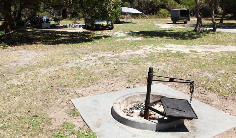 A fire ring at Gillards campground, Mimosa Rocks National Park. Photo: John Yurasek/DPIE