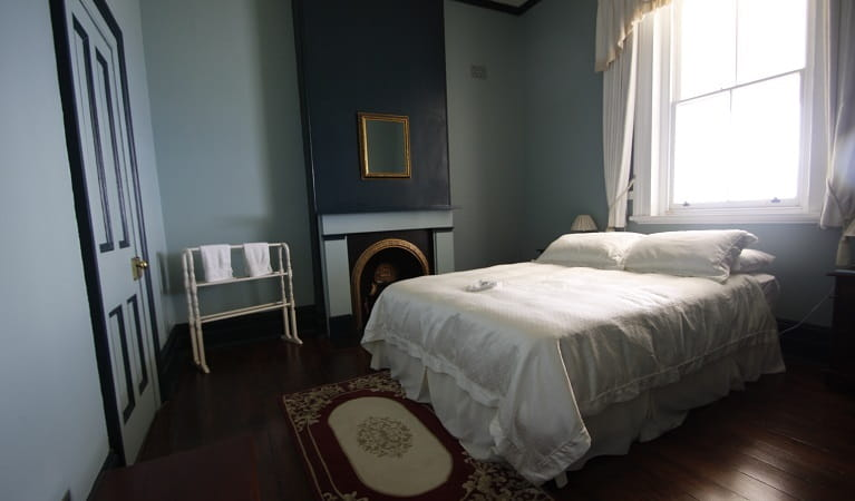 Montague Island Head Lighthouse Keepers cottage bedroom one. Photo: Lucy Morrell