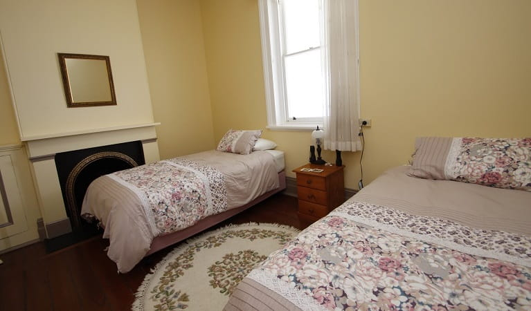 Montague Island Head Lighthouse Keepers cottage bedroom two. Photo: Lucy Morrell