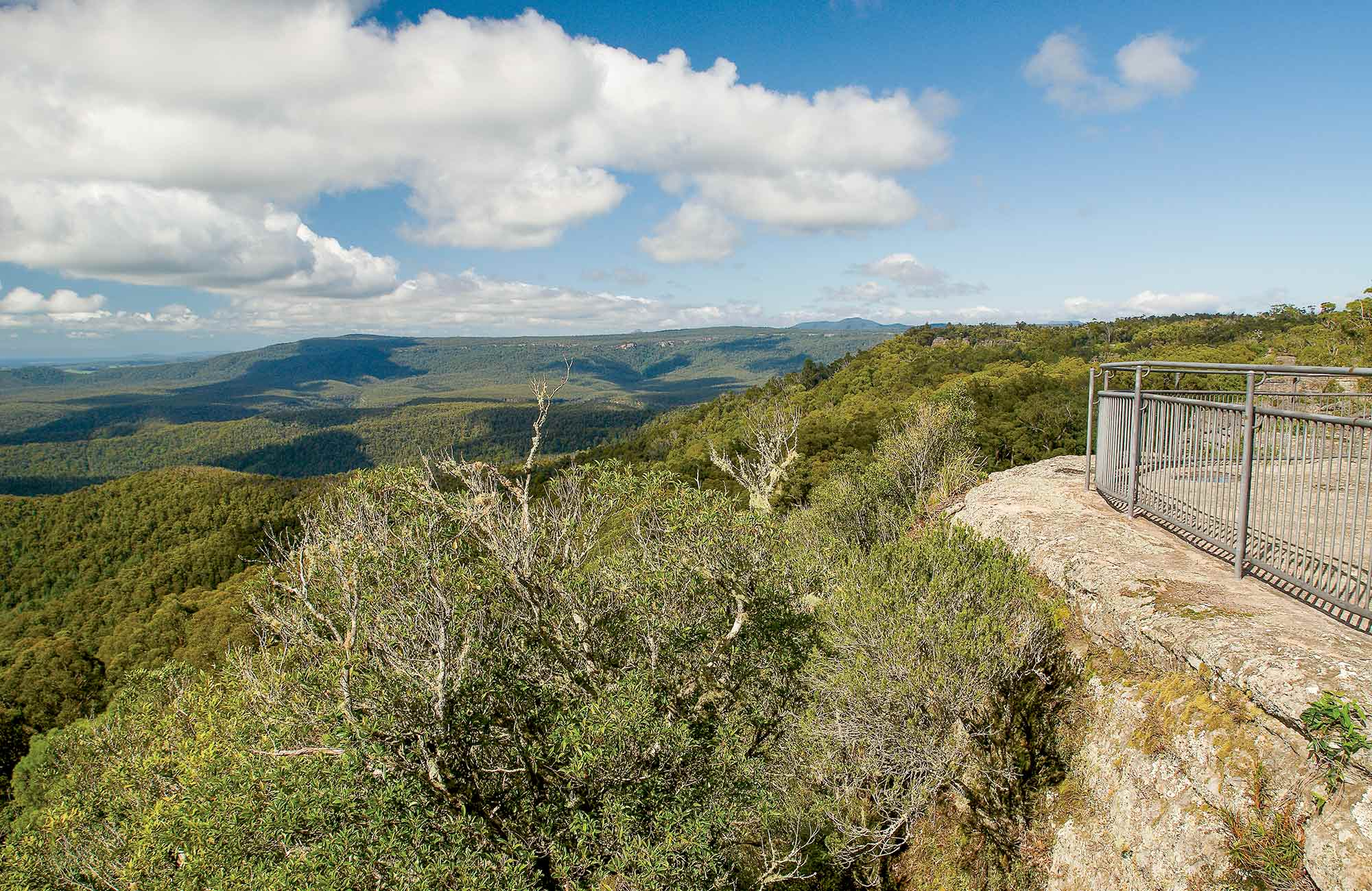 George Boyd lookout, Morton National Park. Photo: Michael Van Ewijk