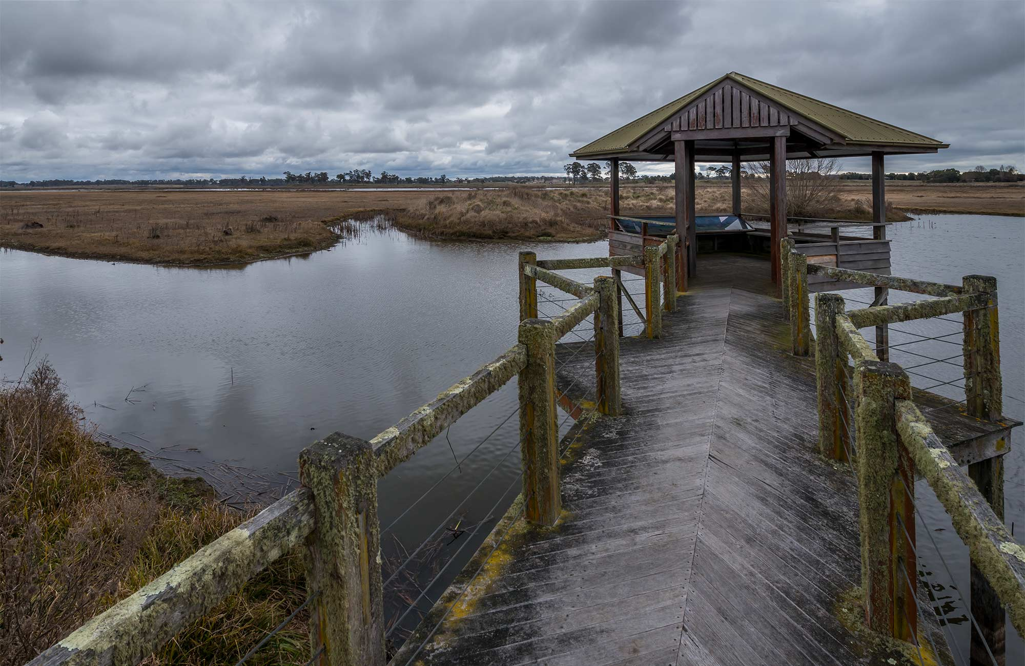 Viewing platform, Mother of Ducks Lagoon Nature Reserve. Photo: John Spencer