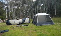 Tents in Federal Falls campground. Photo: Debby McGerty