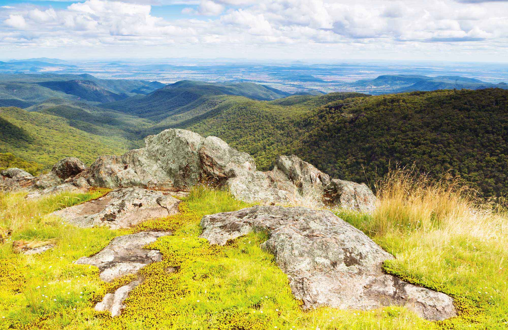 View across landscape of Mount Kaputar National Park. Photo: Rob Cleary