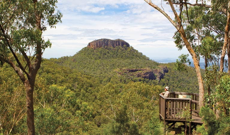 Euglah Rock Lookout near Bark Hut campground, Mount Kaputar National Park. Photo: Rob Cleary Copyright: NSW Government