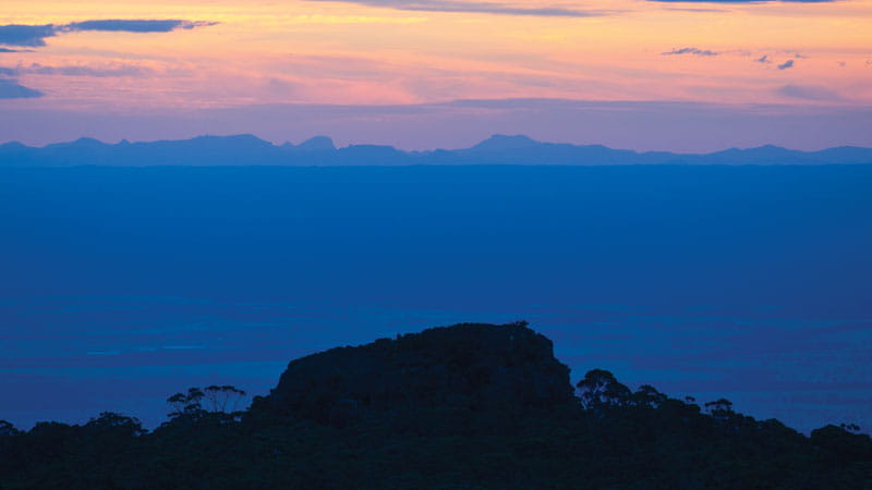 Sunset in Mount Kaputar National Park. Photo: Rob Cleary