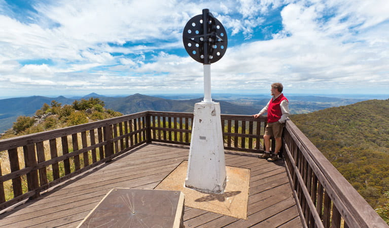 Lookout on Mount Kaputar summit walk. Photo: Rob Cleary Copyright/NSW Government
