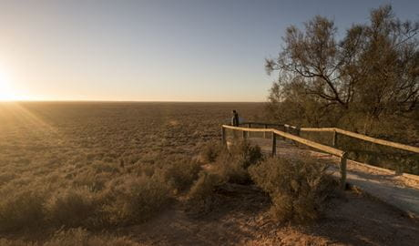 Mungo lookout, Mungo National Park. Photo: John Spencer