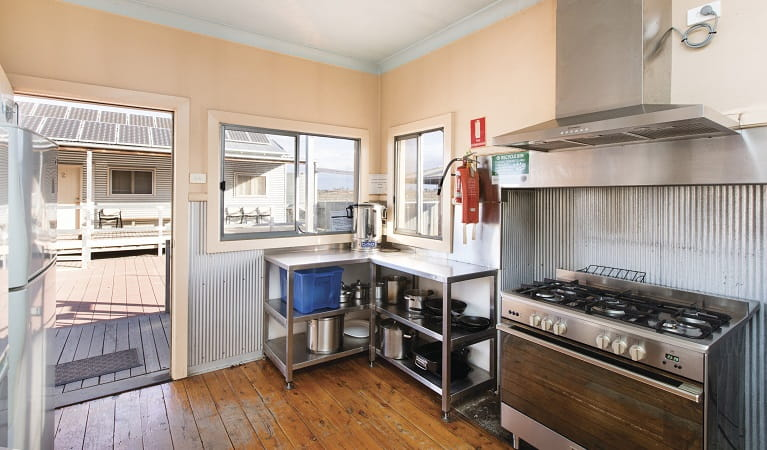 Mungo Shearers' Quarters kitchen, Mungo National Park. Photo: Vision House Photography.