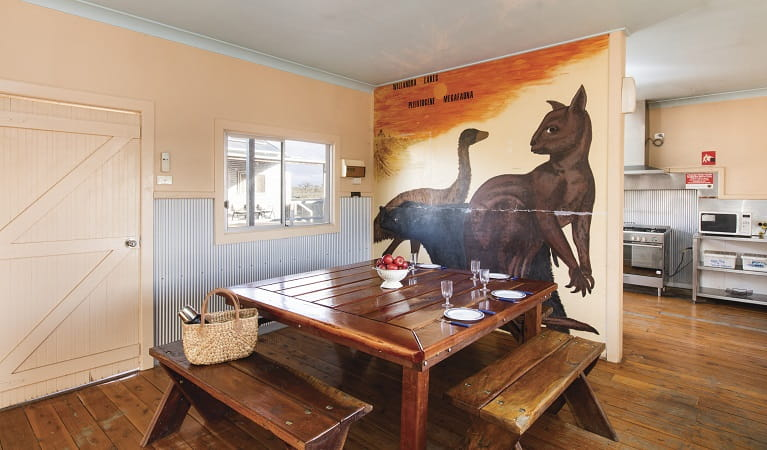 Mungo Shearers' Quarters dining area, Mungo National Park. Photo: Vision House Photography