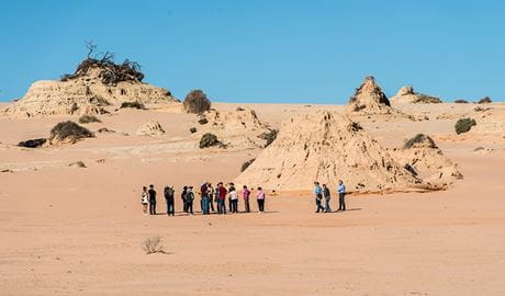 Walls of China, Mungo National Park. Photo: John Spencer/NSW Government