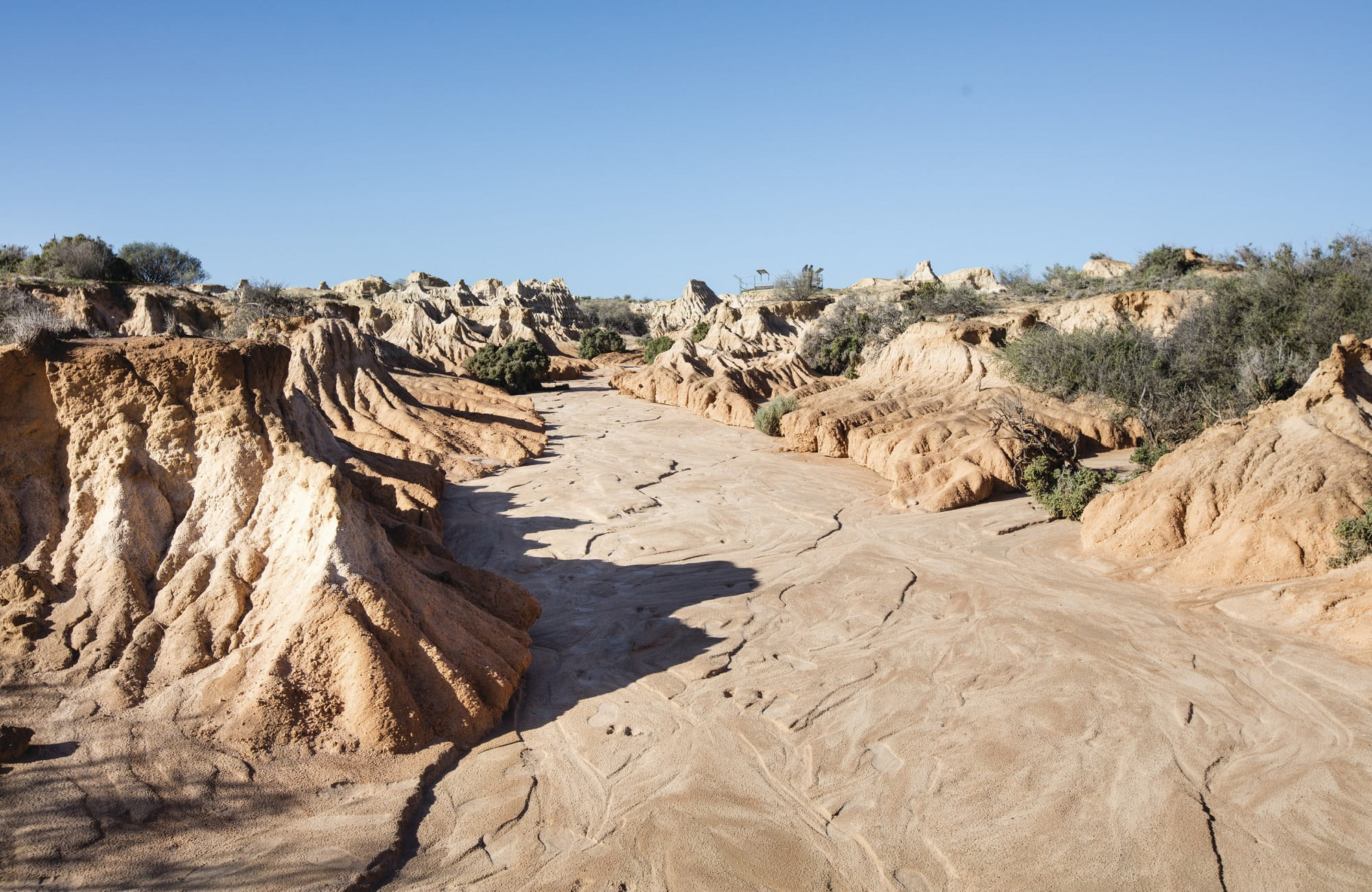 Sand and silt formations at Walls of China, Mungo National Park. Photo: Vision House Photography/OEH