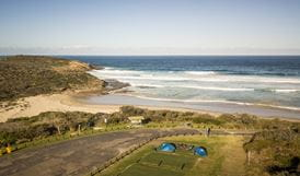 Aerial view of Frazer campground, Munmorah State Conservation Area. Photo: John Spencer/OEH
