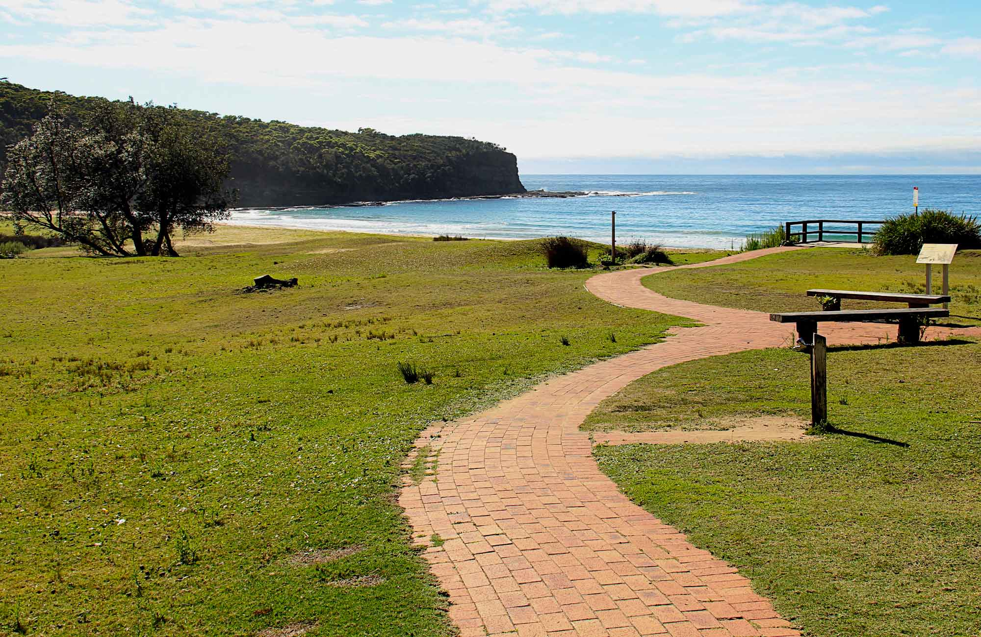 A path leading to the Pebbly Beach. Photo:John Yurasek