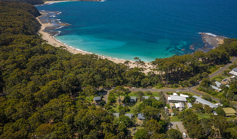 Depot Beach cabins, Murramarang National Park. Photo: Michael Jarman