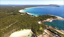 Aerial of the NRMA Murramarang Beachfront Holiday Resort. Photo: Australian Tourist Park Management