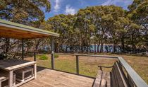 Water views from the deck at Yellow Rock Beach House in Murramarang National Park. Photo: John Spencer/DPIE