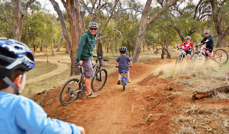 Five Mile mountain bike trail, Murray Valley National Park. Photo: Gavin Hansford