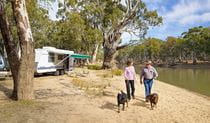 Willoughbys Beach campground, Murray Valley National Park. Photo: Gavin Hansford/DPIE