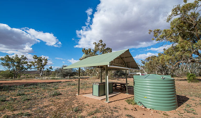 Free barbecues at Homestead Creek campground, Mutawintji National Park. Photo: John Spencer, OEH
