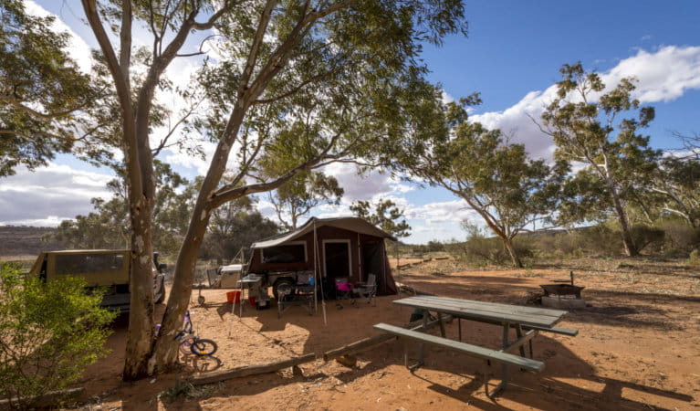 Camping at Homestead Creek campground, Mutawintji National Park, Photo: John Spencer, OEH