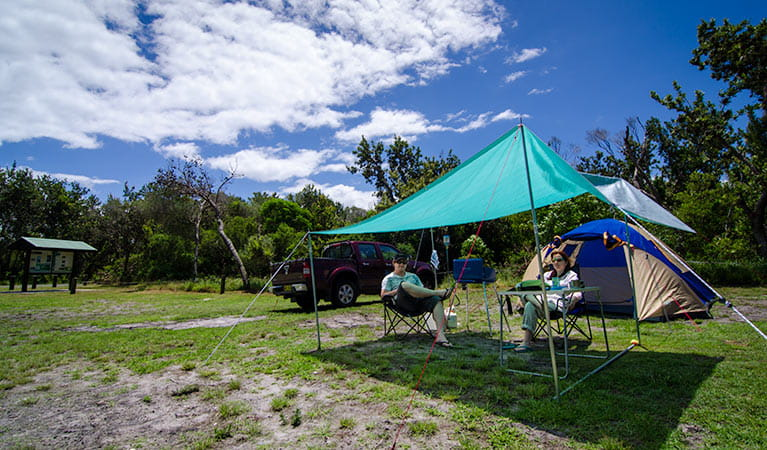 Banksia Green campground, Myall Lakes National Park. Photo: John Spencer/NSW Government