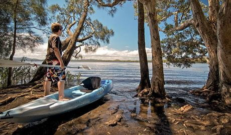 Dees Corner campground, Myall Lakes National Park. Photo: John Spencer/NSW Government