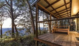 Views of New England National Park from the balcony of The Chalet. Photo: Robert Cleary/OEH