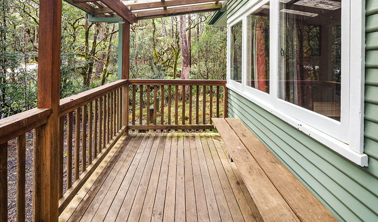 Verandah, Toms Cabin, New England National Park. Photo: Robert Cleary/OEH