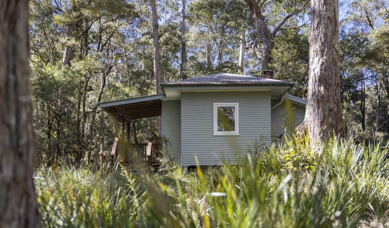 Dining area, Toms Cabin, New England National Park. Photo: Robert Cleary/OEH