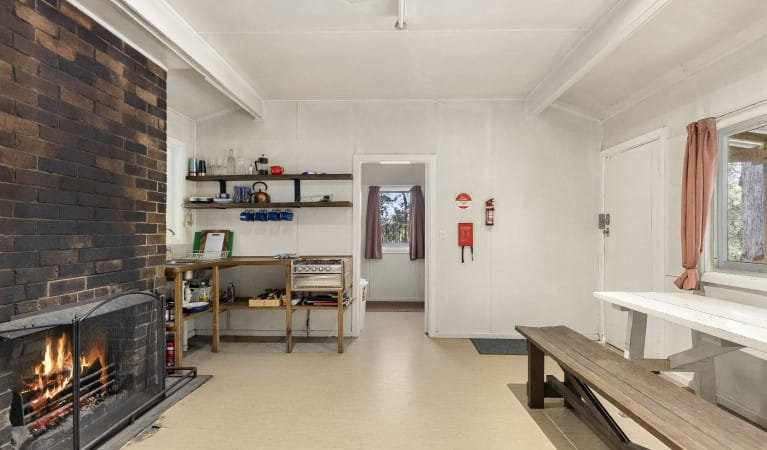 Bunk beds in bedroom, Toms Cabin, New England National Park. Photo: Robert Cleary/OEH