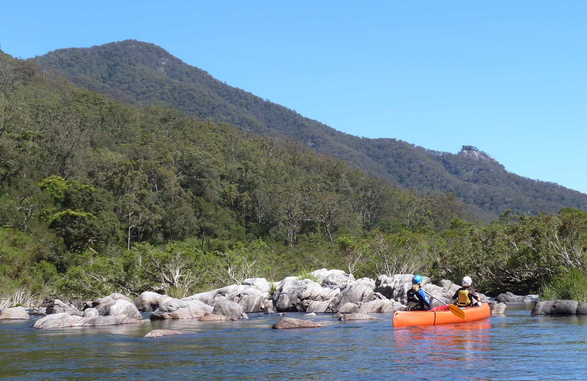 Canoeing, Nymboida National Partk. Photo: D Parkin