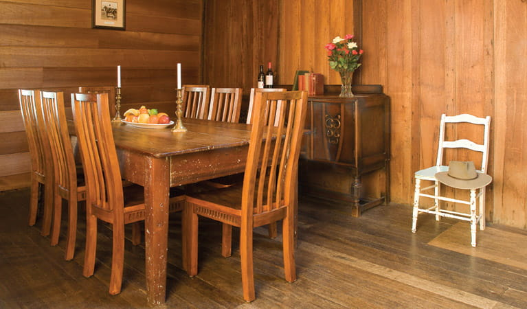East Kunderang Homestead dining area. Photo: Michael van Ewijk/DPIE