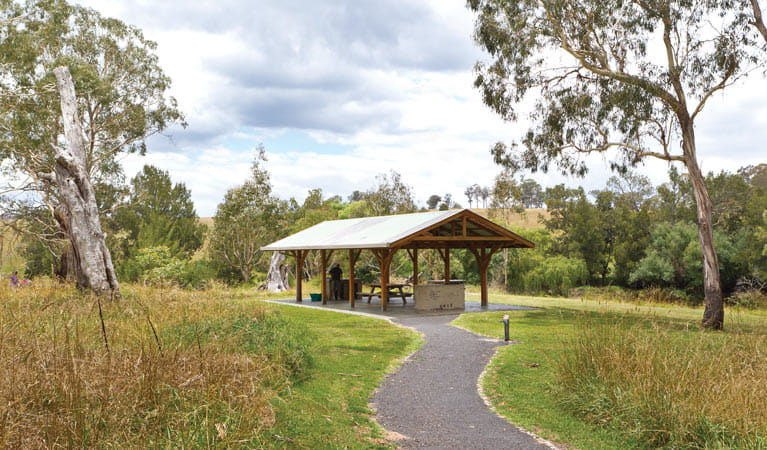 Blue Hole picnic area shelter, Oxley Wild Rivers National Park. Photo: Rob Cleary