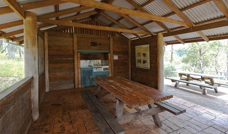 Undercover picnic shelter near Dangars Gorge and Falls. Photo: Rob Cleary