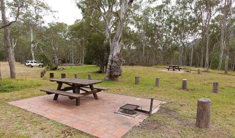 Riverside campground and picnic area, Oxley Wild Rivers National Park. Photo: Rob Cleary/DPIE