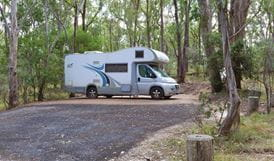 Campervan parked at Wollomombi Campground, Oxley Wild Rivers National Park. Photo: Rob Cleary