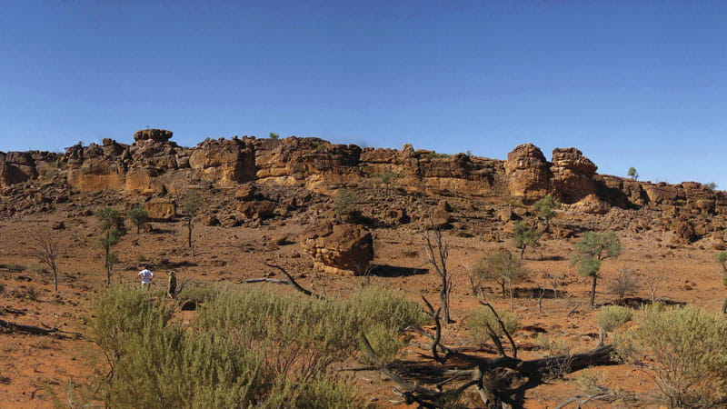 Peery Rock Outcrop, Paroo-Darling National Park. Photo: Julieanne Doyle