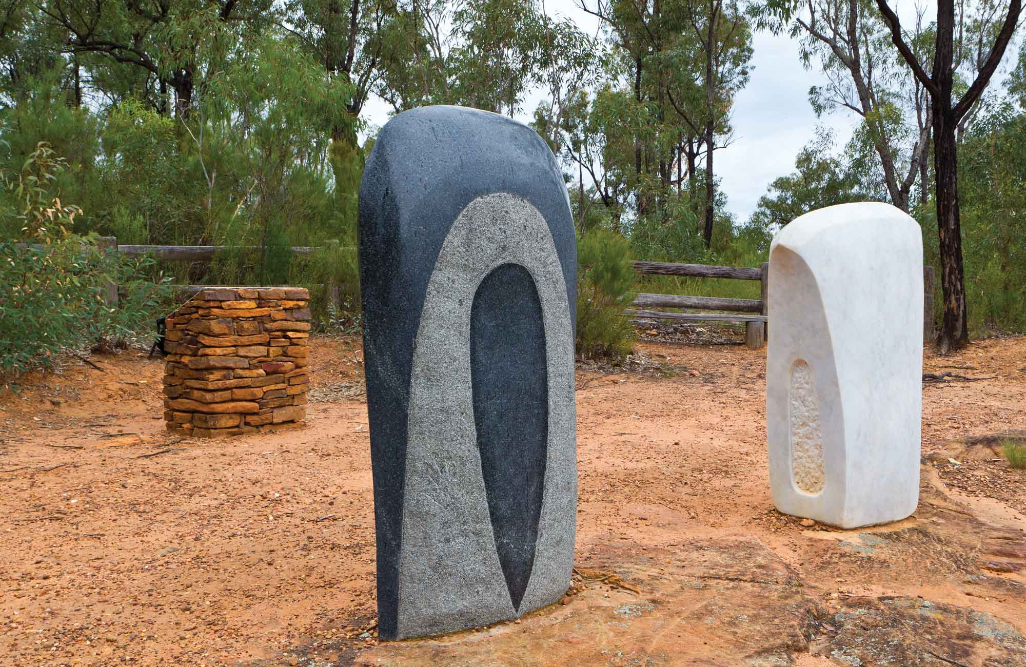 Sculptures in the Scrub, Pilliga National Park. Photo: Rob Cleary