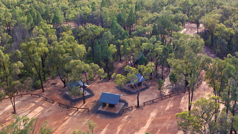 Aerial view of Salt Caves picnic area, Timmallallie National Park. Photo: Rob Cleary